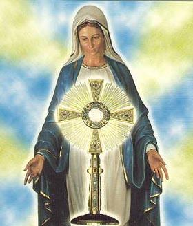 Risultati immagini per adorazione eucaristica maria